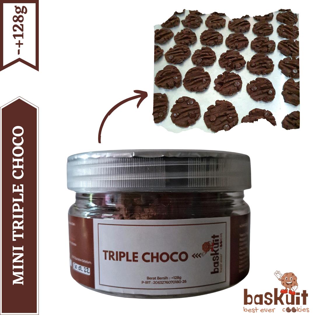 Triple Choco - BASKUIT (Best Ever Cookies) - Mini Series Kemasan Jar 128g