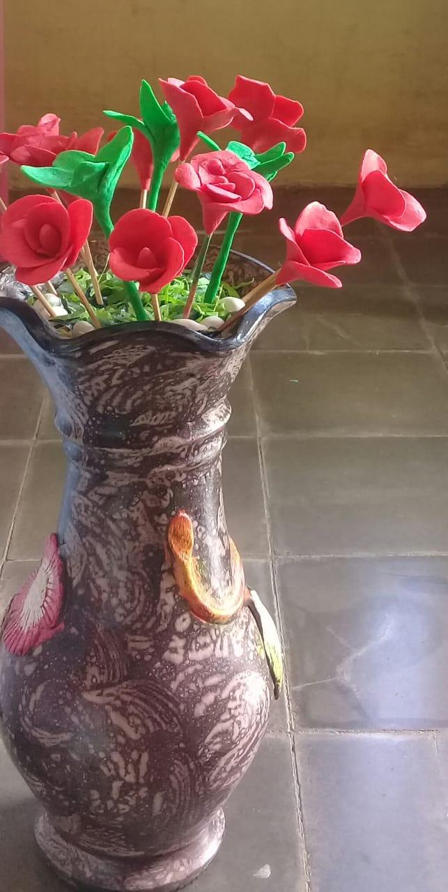 Vas Jumbo Bunga Sabun Aroma Strawberry
