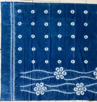 Jumputan indigo (blue)