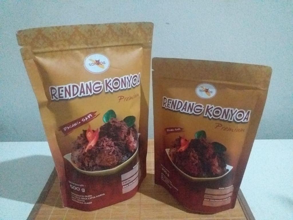 Rendang Daging Premium Merek Konyoa 250gr